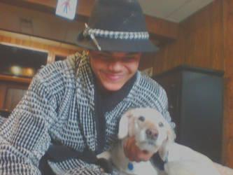 me and my dog Nala by Alphajonesisimmortal