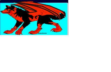 Zarick in wolf form(updated) by Alphajonesisimmortal