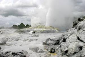 Volcanic Landscape 4 by Rivendell-PhotoStock