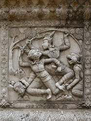 Temple wall frieze by Rivendell-PhotoStock
