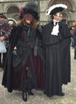 Venetian Masked Couple by Rivendell-PhotoStock