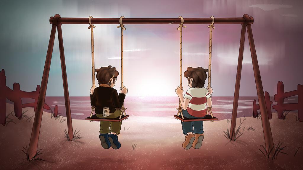 Gravity Falls: Glass Shard Beach Screenshot Redraw by Charlemage