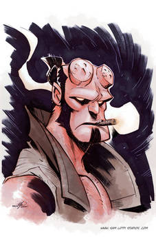 Hellboy Commission...