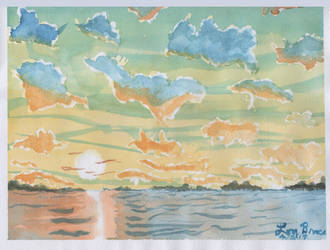 Sunset#2 Frisket Clouds by LuthiAir