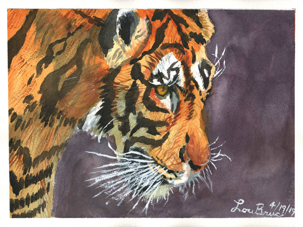 Tiger Water Color - LuthiAir by LuthiAir