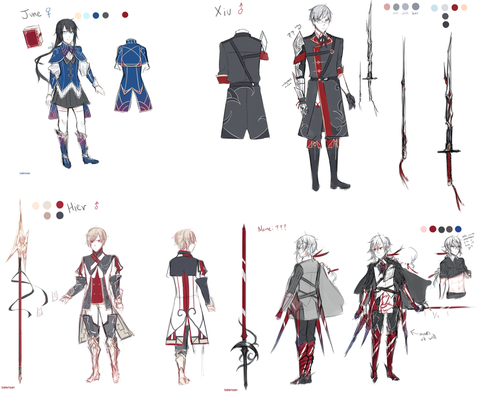 Character Design Novel : Story character designs by batensan on deviantart