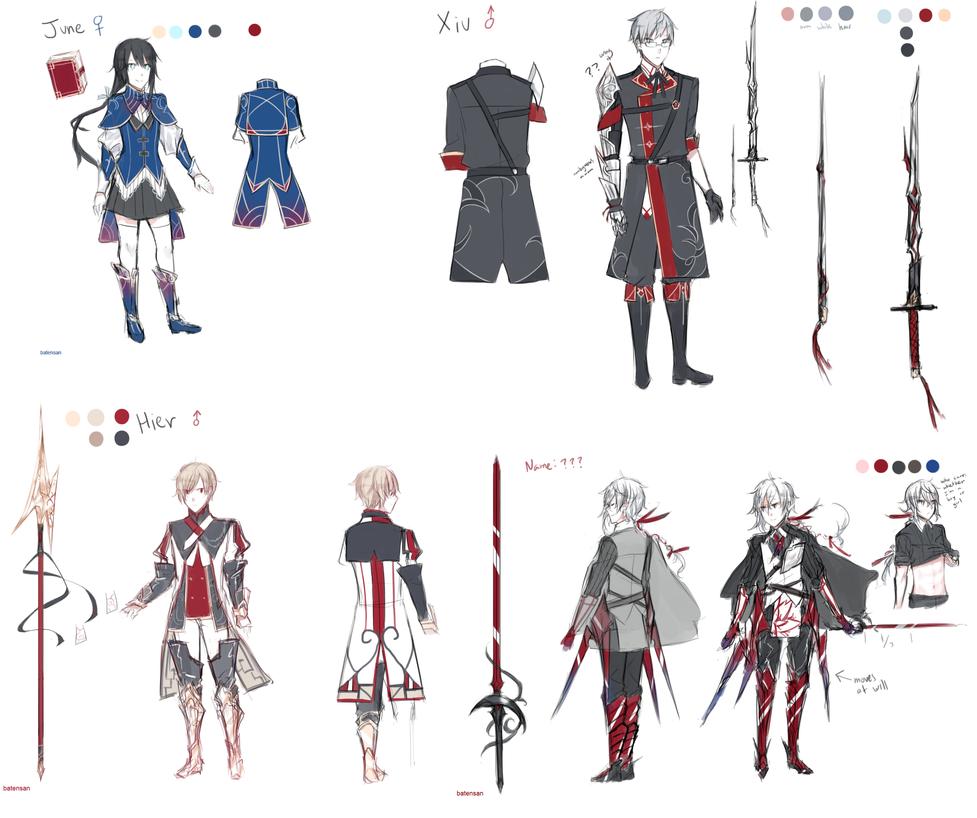 Character Design Novel : Story character designs by batensan on deviantart