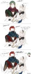Fire Emblem: Ninja Twins and Kamui by batensan