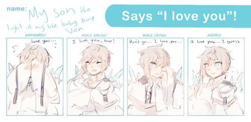 Magical Otoge: Ven saying 'I love you' by batensan