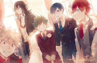 Boku no Hero Academia in Suits by batensan