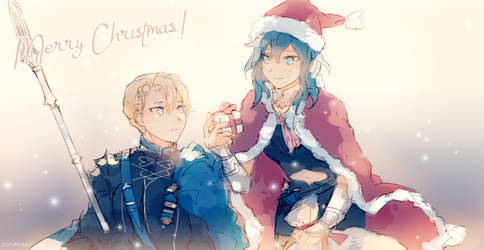 Fire Emblem Three Houses Christmas with Dimitri