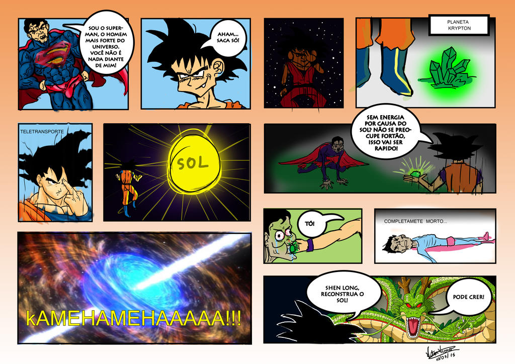 Goku V Super Man by VitorViana
