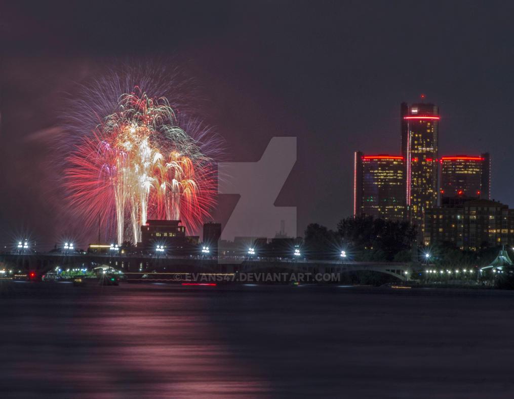 Detroit Fireworks by evans47