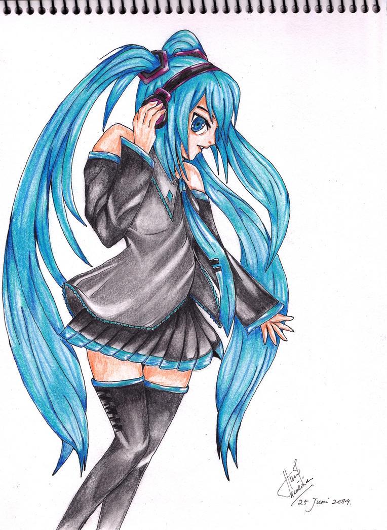 Hatsune Miku-2nd version by Adenaru