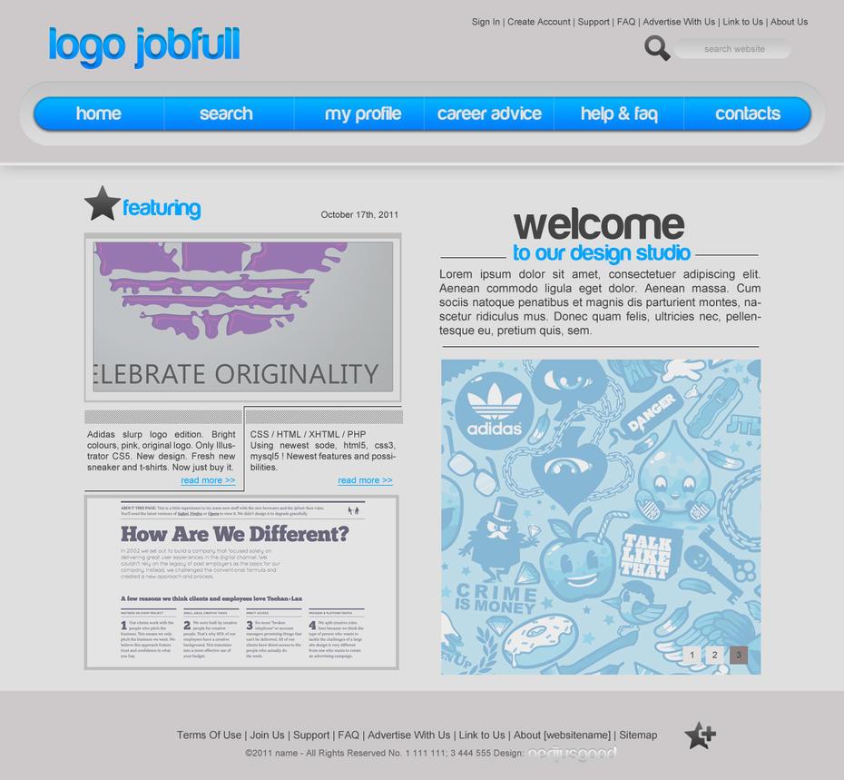 Minimalistic web template by r3dbull