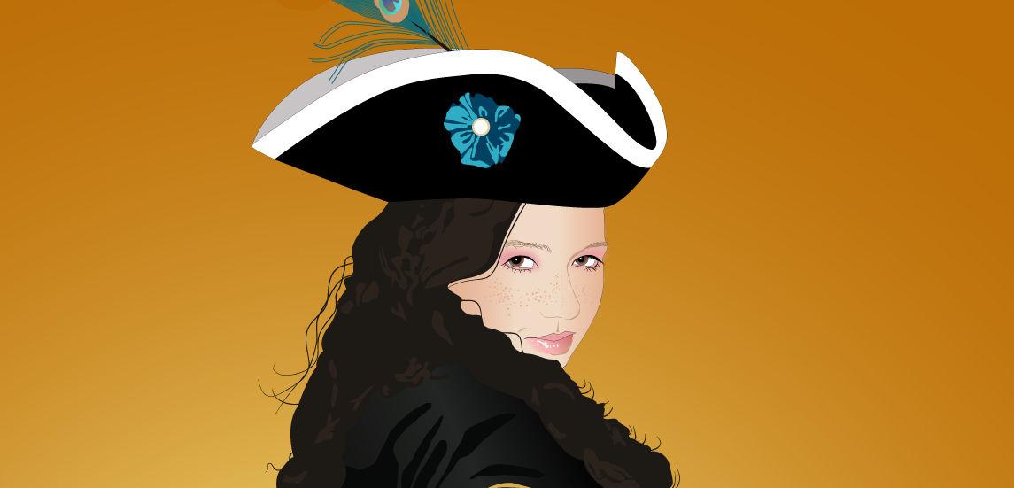 Aubry Pirate Face close up