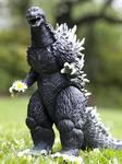 Godzilla with flower