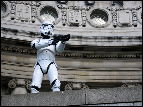 Stormtrooper in London by AndreasServan