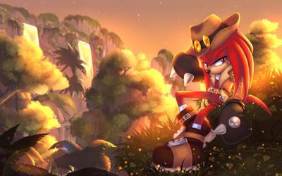 Treasure hunter Knuckles_sunset by NightAngelTDC