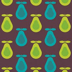 Retro Dark Pear Print