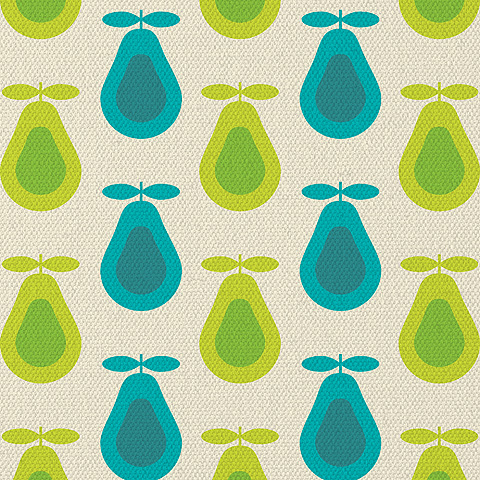 Retro Pear Print by kpucu