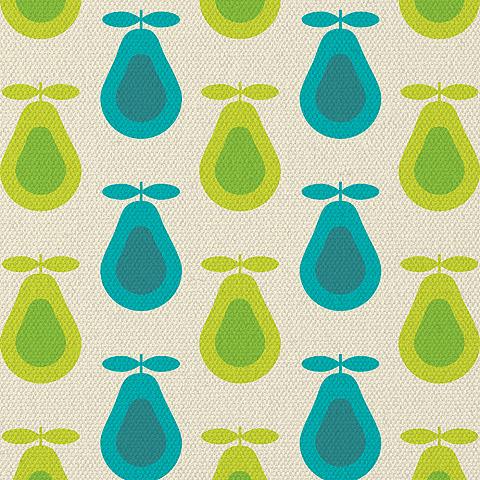 Retro Pear Print by kpucu