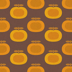 Retro Brown Pumpkin Print