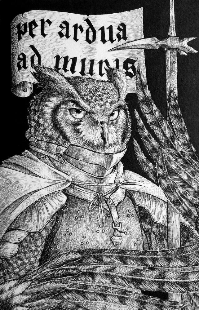 Sir El Buho, Knight of Owls. by Gilran