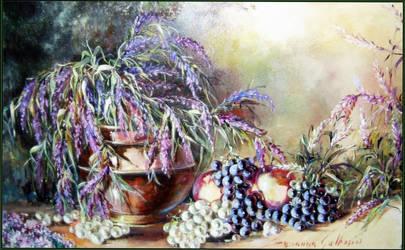 Arbusti d' hebe con frutta  cm 60 x 40
