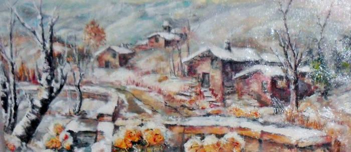 Sam_3638 13-12-2012Narcisi sotto la neve cm 60 x30