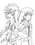 Sora and Riku -inked-