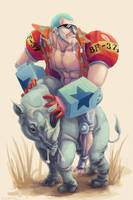 RIDE A RHINO by overlordofthepies