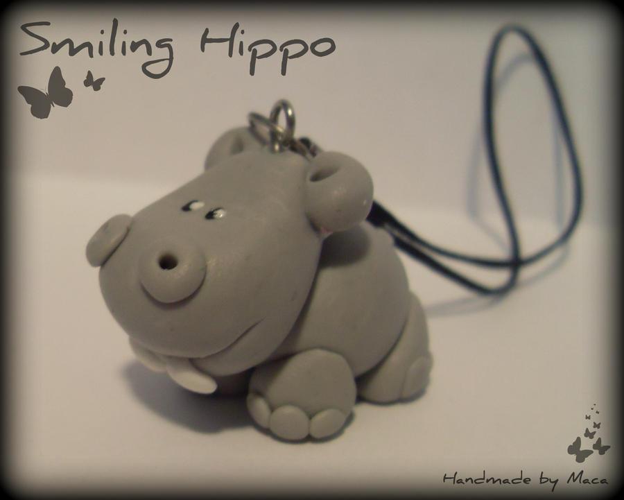 Smiling Hippo by Maca-mau
