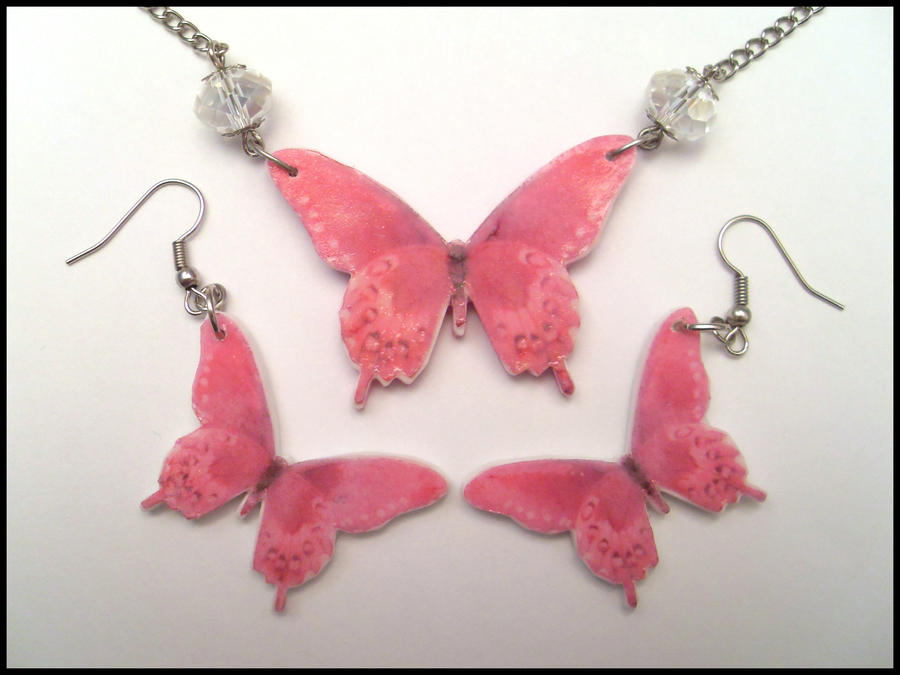 Pink Butterfly Set by Maca-mau ...