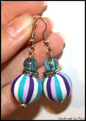 Purple -turquoise earrings