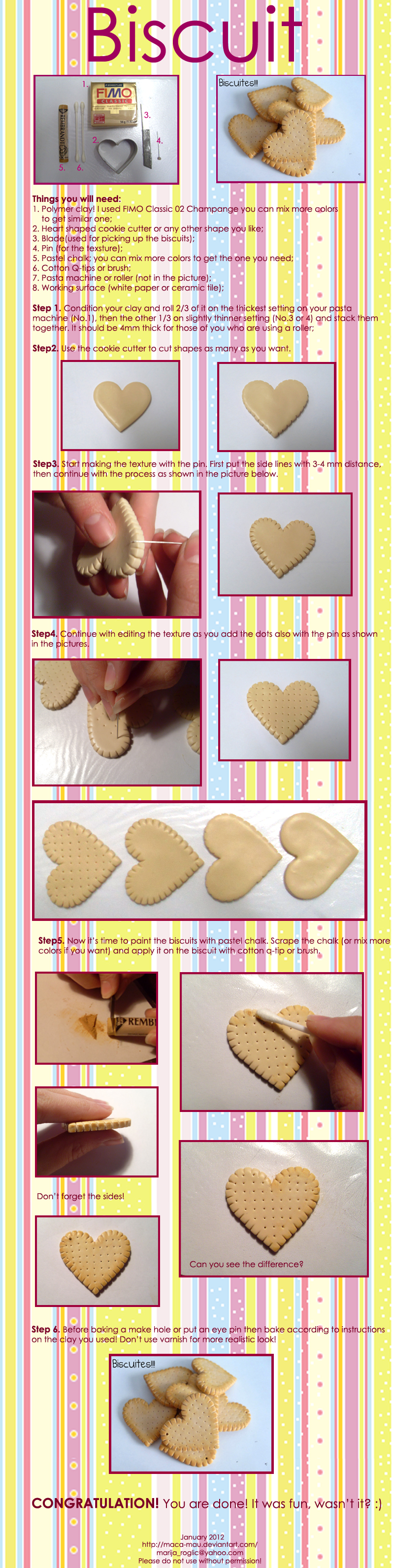 Polymer Clay Biscuit Tutorial by Maca-mau