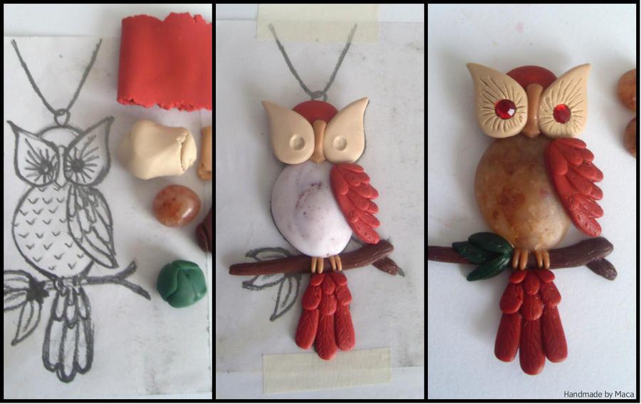 Как сделать сову из полимерной глины