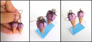 Blueberry Ice Cream by Maca-mau