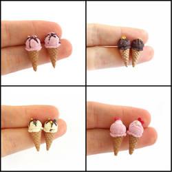 Tiny Ice Cream - Stud Earrings