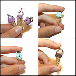 Tiny Treats - Handmade Ice Cream Pendants