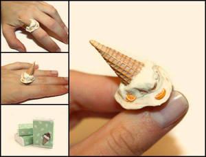 Melted Ice Cream - Handmade Ring