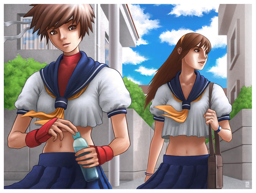 Sakura y Kei by Daniel-GS