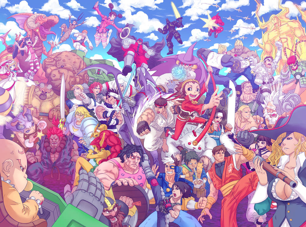 Capcom Fighting Tribute artbook piece