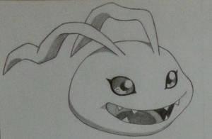 Koromon from Digimon :D by SaM-bluefunnybear