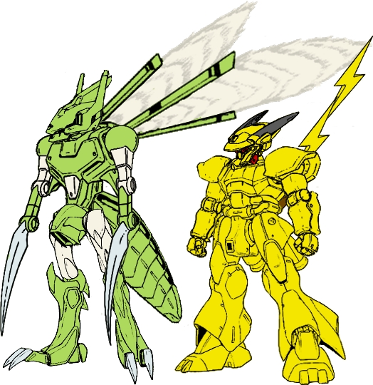 Mecha Pikachu and Mecha Scythe by dracostarcloud