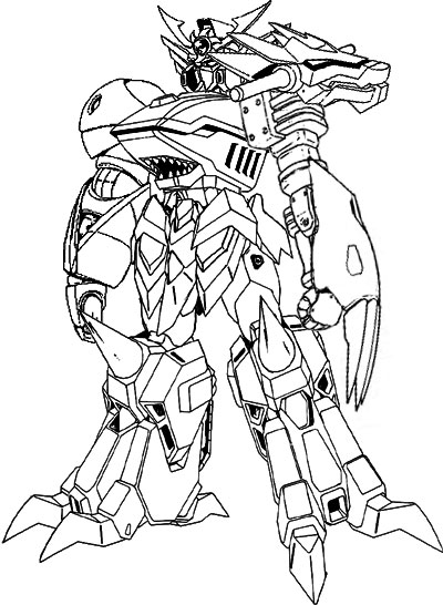 5 mighty morphin power rangers coloring pages coloring pages for Power rangers megazord coloring pages