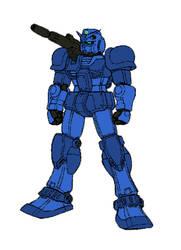 Damaged RX-78-1.5 Prototype Gundam Cannon by dracostarcloud