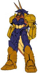 Carmelita Fox Gundam by dracostarcloud