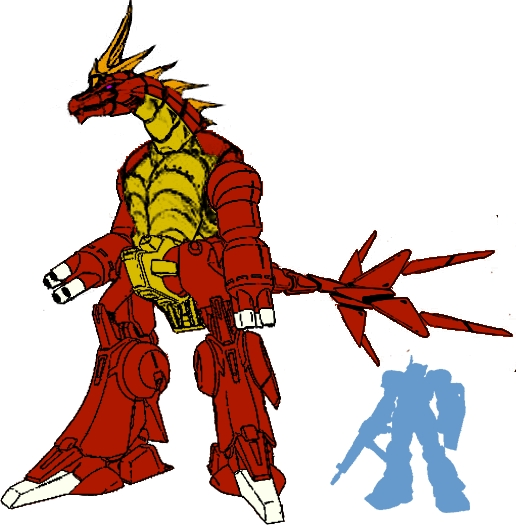 Mecha Titansaurus by dracostarcloud