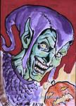 Green Goblin Sketch card 2